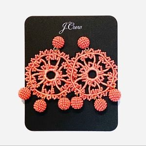 NWT J. Crew Crotched Seed Bead Statement Earrings